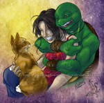 TMNT: Laughing Mike and Oyuki