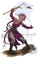 Commission: Tiefling Sorceress by ShadowPhoenixStudios