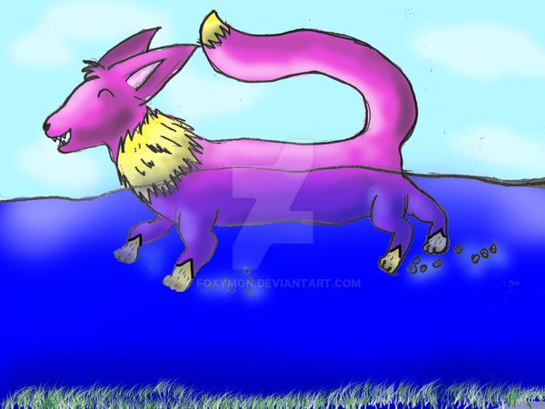 Foxymon nadando by Foxymon