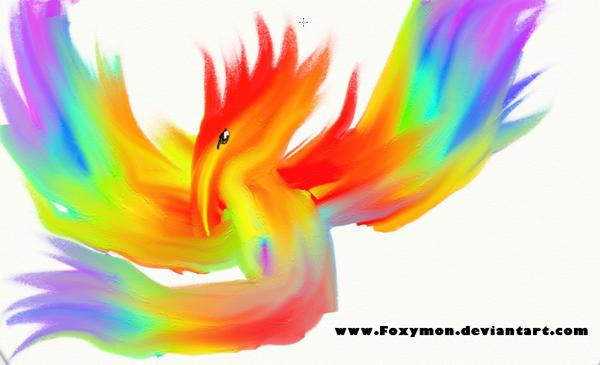 Rainbow Bird by Foxymon