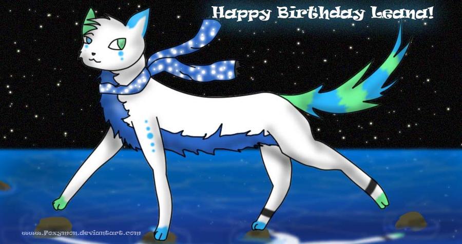 Happy birthday Leana 2010 by Foxymon