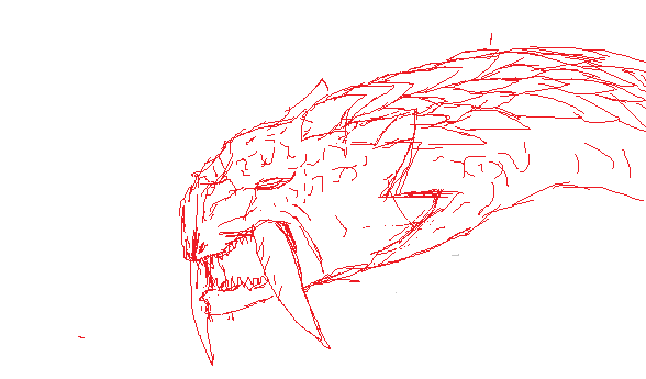 Barioth sketch by Foxymon