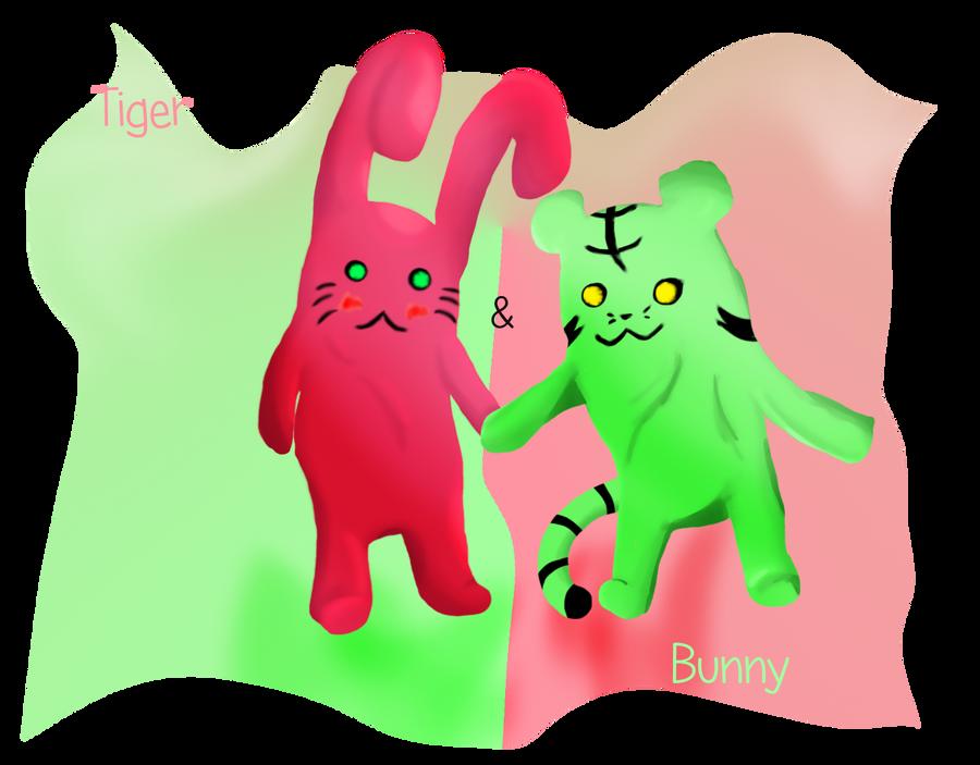Tiger n Bunny Plushies by Foxymon