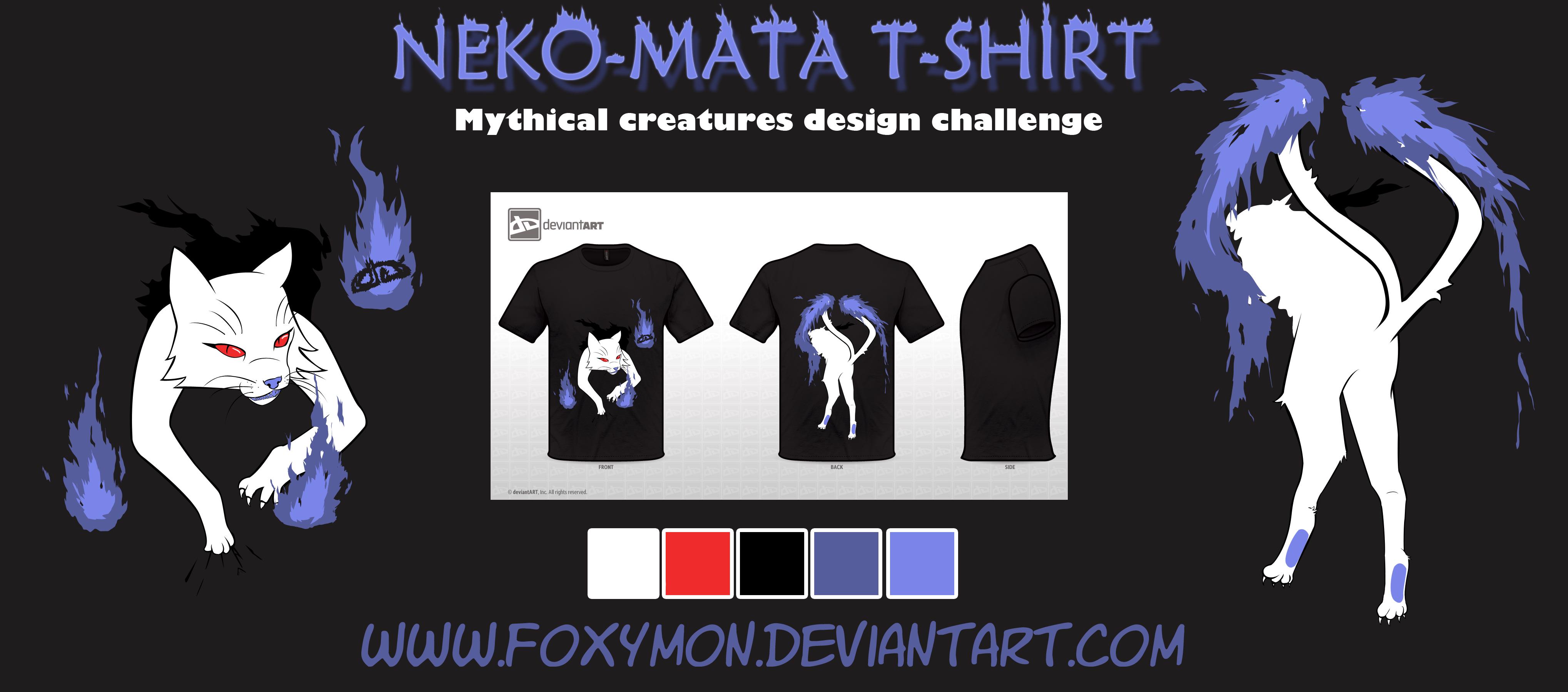 Nekomata T-Shirt by Foxymon