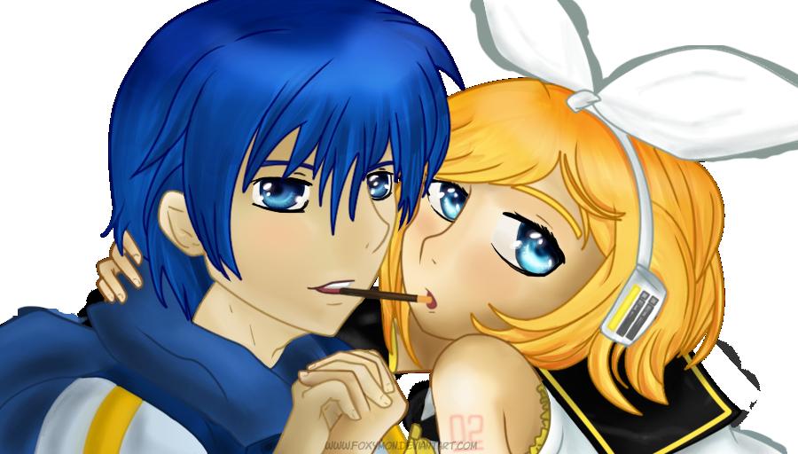 Pocky Rin x Kaito by Foxymon