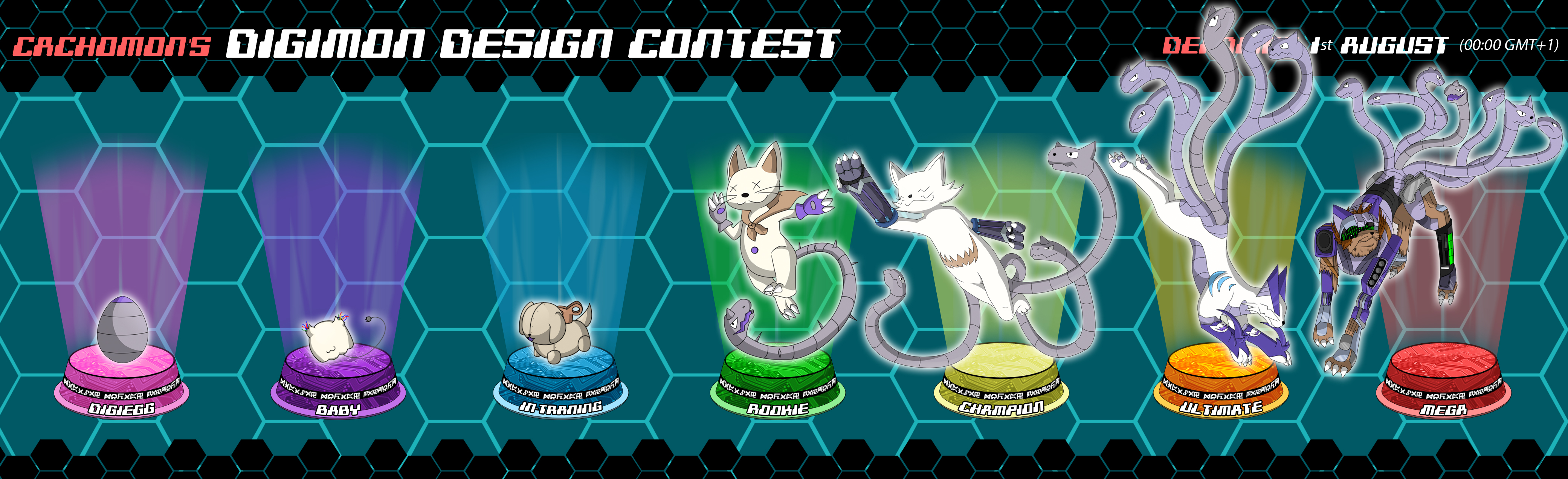Digimon Evo Line Contest by Foxymon