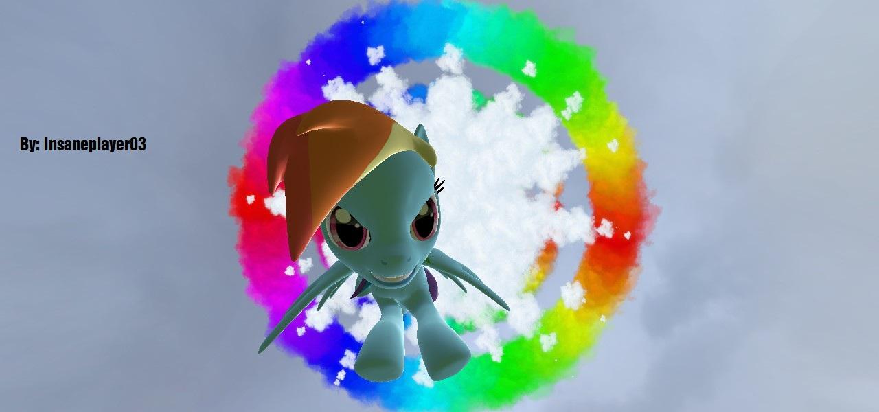 Rainbow Dash Doing The Sonic Rainboom By NintenJordan