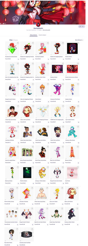 my first Redbubble STORE! SONIC and FANDOM Merch