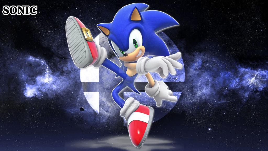 Smash Bros Ultimate Sonic Wallpaper 4k By Akiraxer On