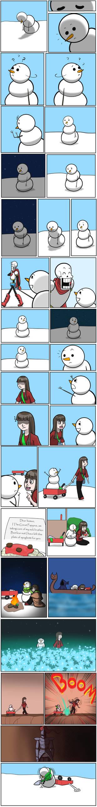 Undertale Green short story Snowman Part 1