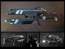 Sci-fi series prop gun by chaderr