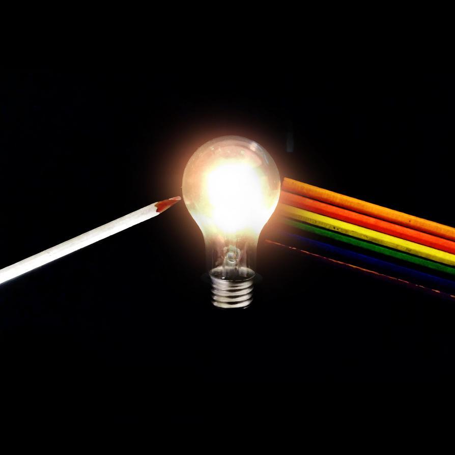 Dark side of the light bulb by John-Itachi