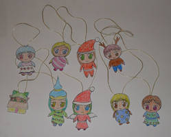Chrismas chibis by frolka