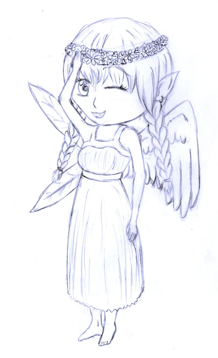 Chibi fairy sketch by frolka