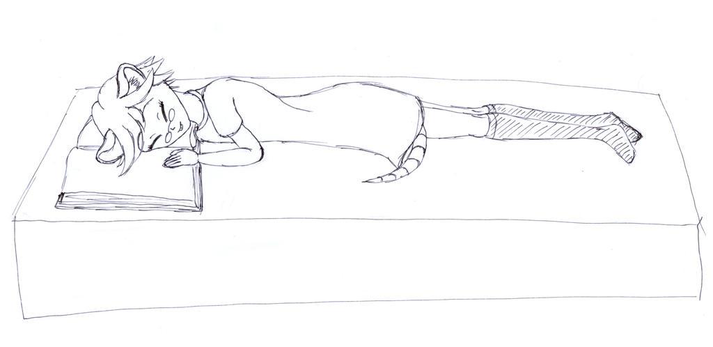 Sleeping Mousegirl by frolka