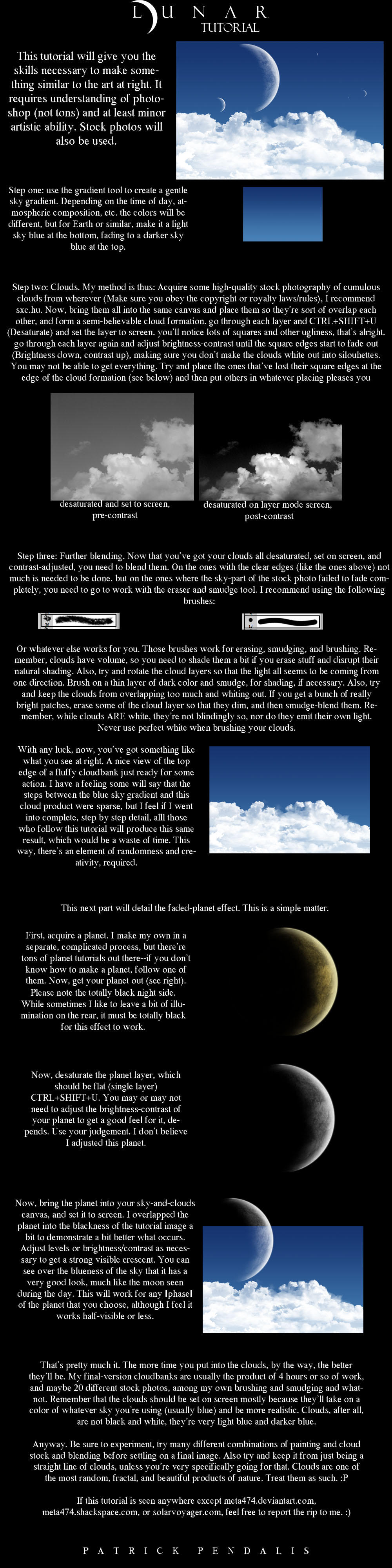 Clouds and Moons Tutorial by meta474