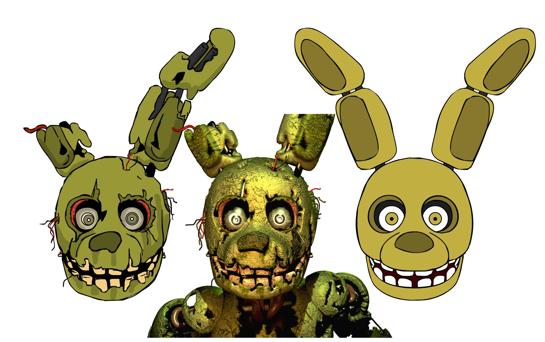 Springtrap by zachamation on deviantart for Fnaf coloring pages springtrap