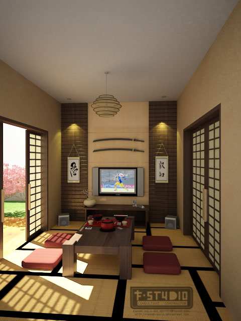Attractive Japanese Living Room By Fakhri Aulia ...