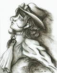 Steampunk Lady (charcoal)