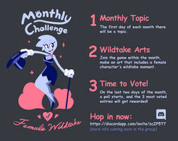 Monthly Challenge of Female Wildtake Coming soon!