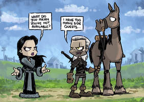 The Witcher - Side Quests by Craigbruynart