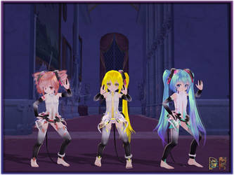 MMD TDA Chibis on KH2 The East Wing