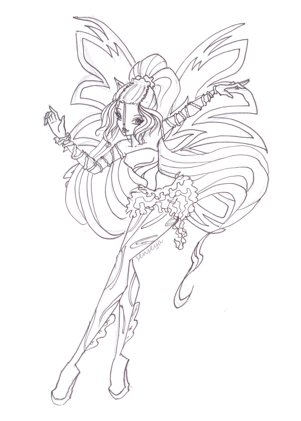Winx Daphne Coloring Pages 12 160 Coloring Mewarnai Site