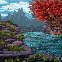 purple rocks by BonkiHart