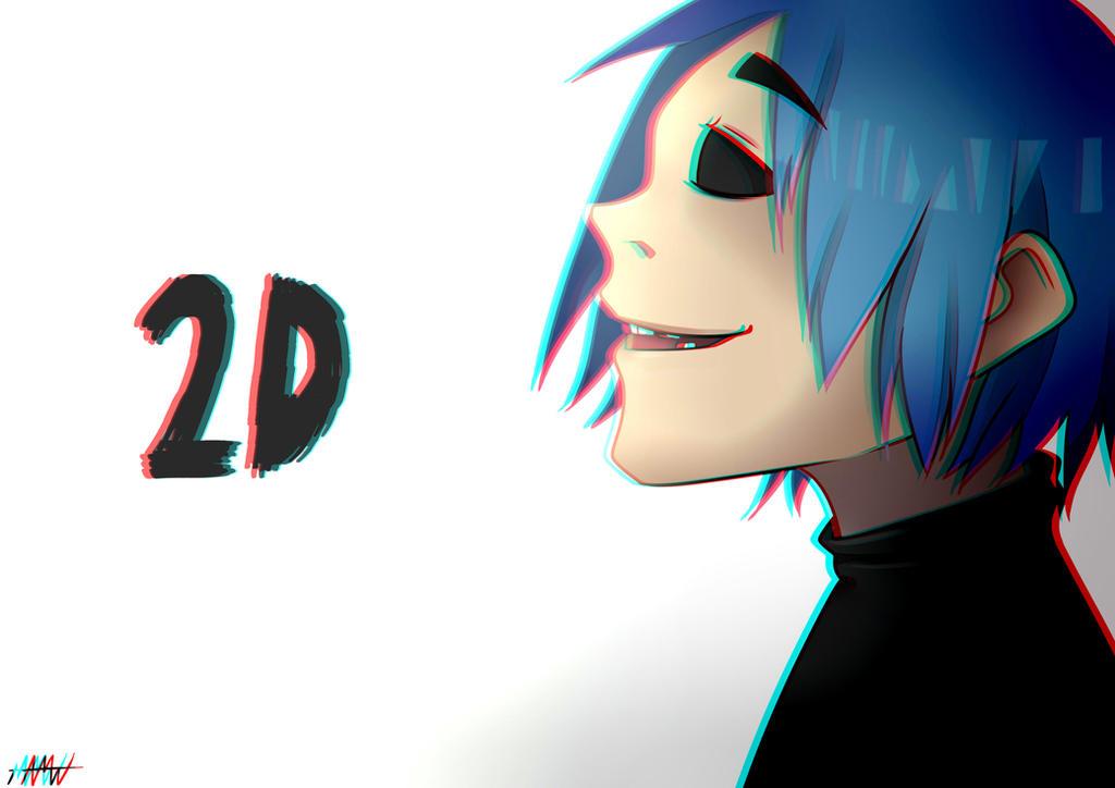 2D Gorillaz by ANGELIKAmadori