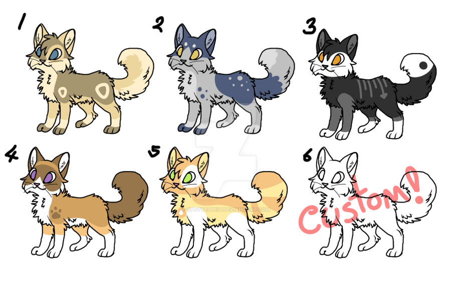 Adoptables - OPEN by SpottedpeIt