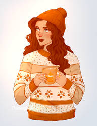 Cozy Winter (with colouring page)