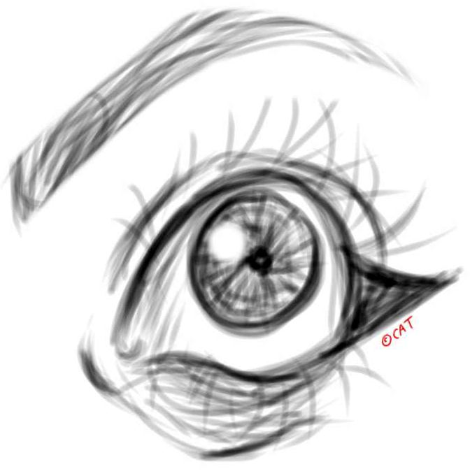Eye Sketch by stolencigarettes