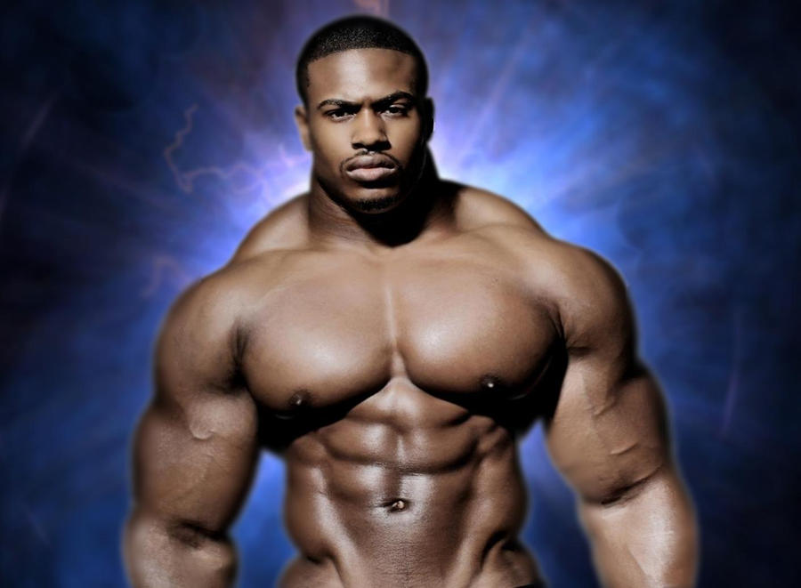 Big Black Muscle Gay 107