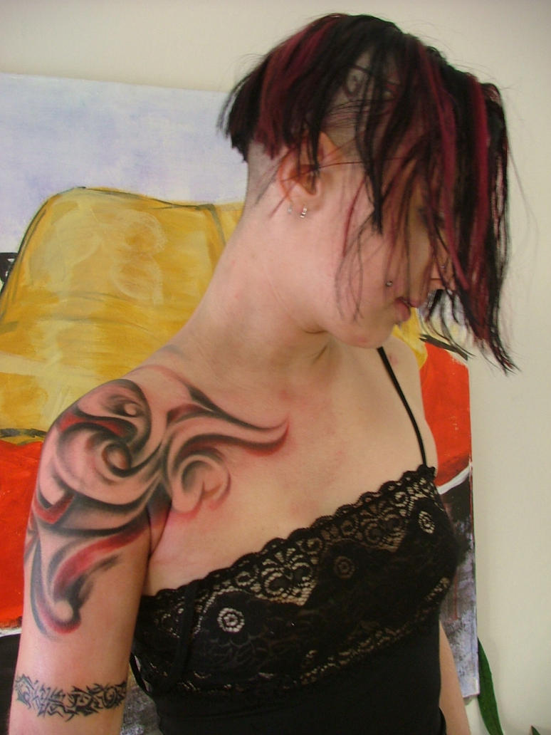 tattoo model5 - shoulder tattoo