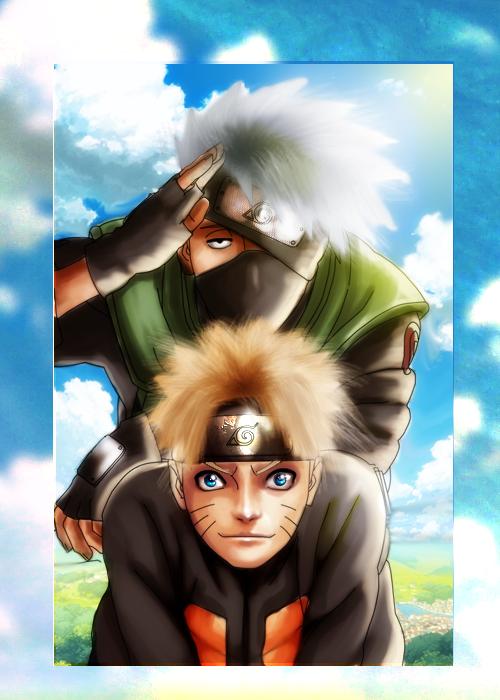 Naruto and Kakashi by DIABLO123456