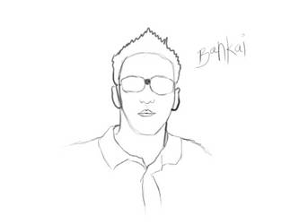 Self Portrait sketch by DIABLO123456