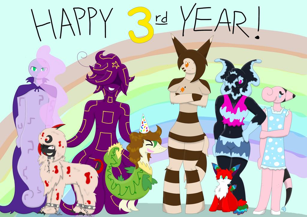 HAPPY THIRD YEAR!! by XDTheServine