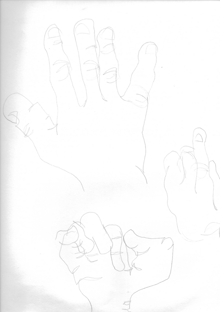 Blind Contour Hands 4 by XDTheServine