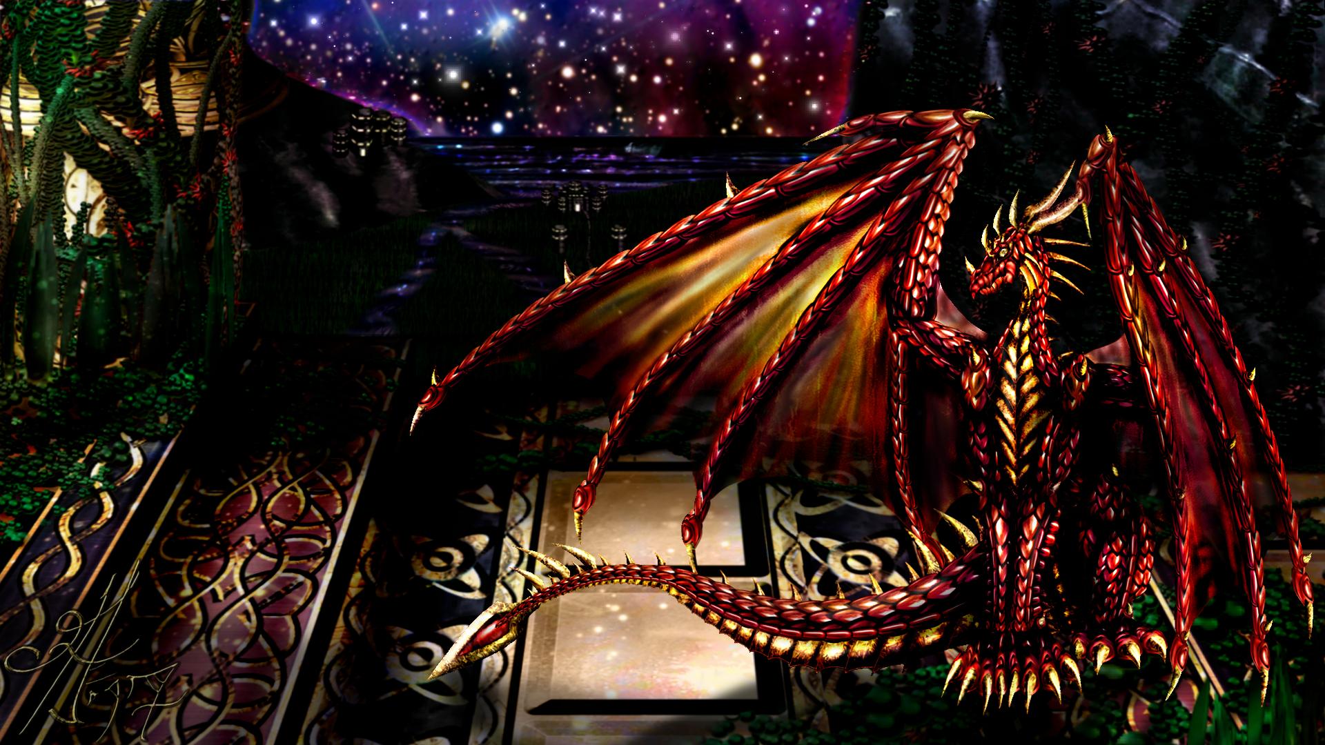 Red Drake's Nighttime Watch by Ahakarin