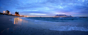 Cape Town by twilight by linda-Bee
