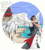 June birthstone angel by JessicaMDouglas