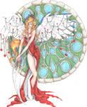 July birthstone angel