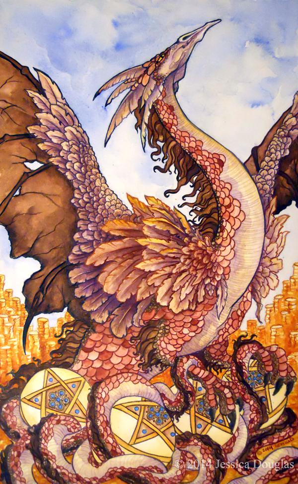 78 Tarot Astral By Kayti Welsh Kickstarter: 78 Tarot: 4 Of Pentacles By JessicaMDouglas On DeviantArt