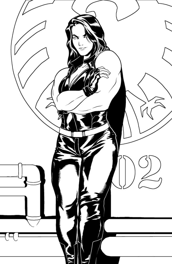 Red she hulk by mr akbar on deviantart for She hulk coloring pages
