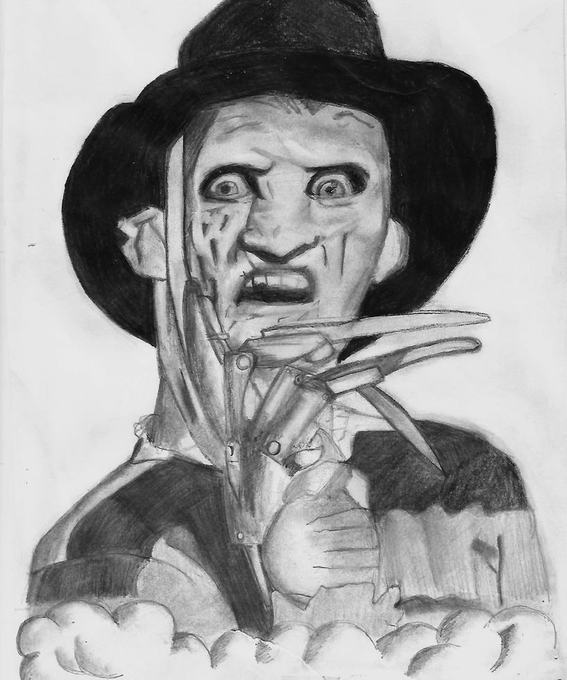 Freddy Krueger Drawing by LeahStars8