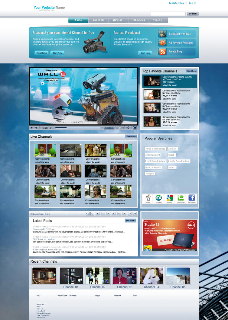 Video web template by venkat7668 on DeviantArt