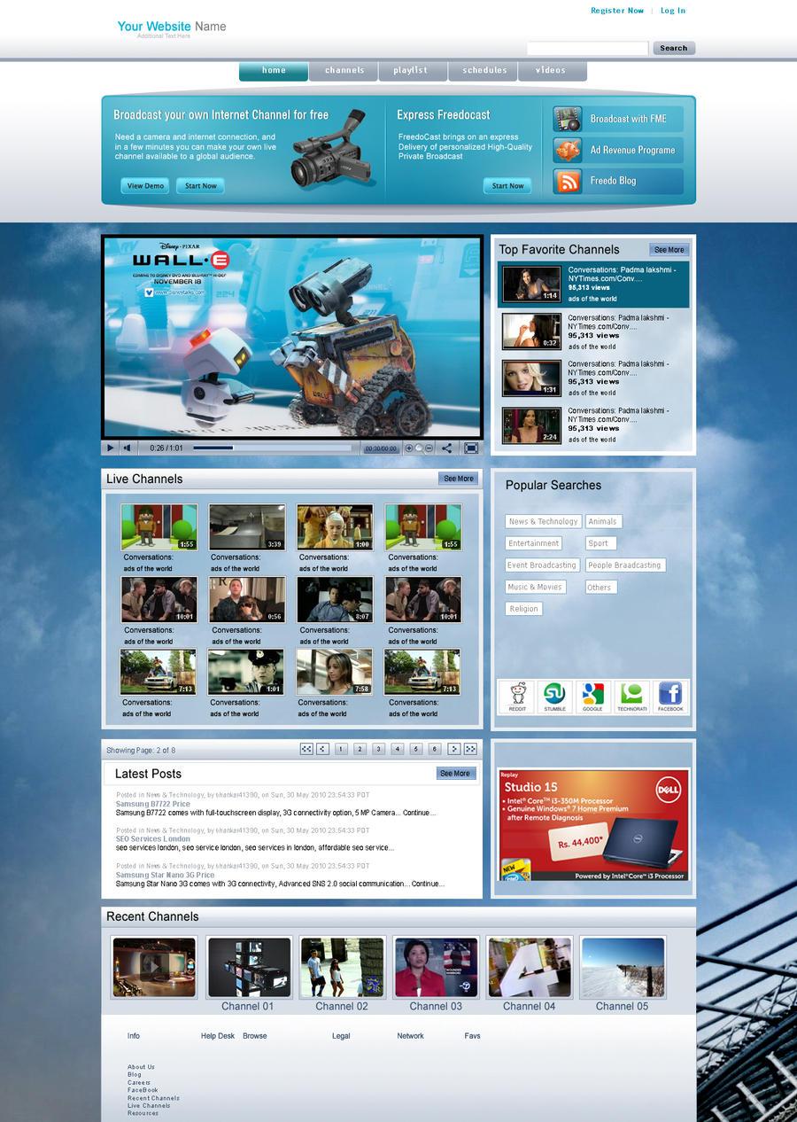 Video web template by venkat7668 on DeviantArt