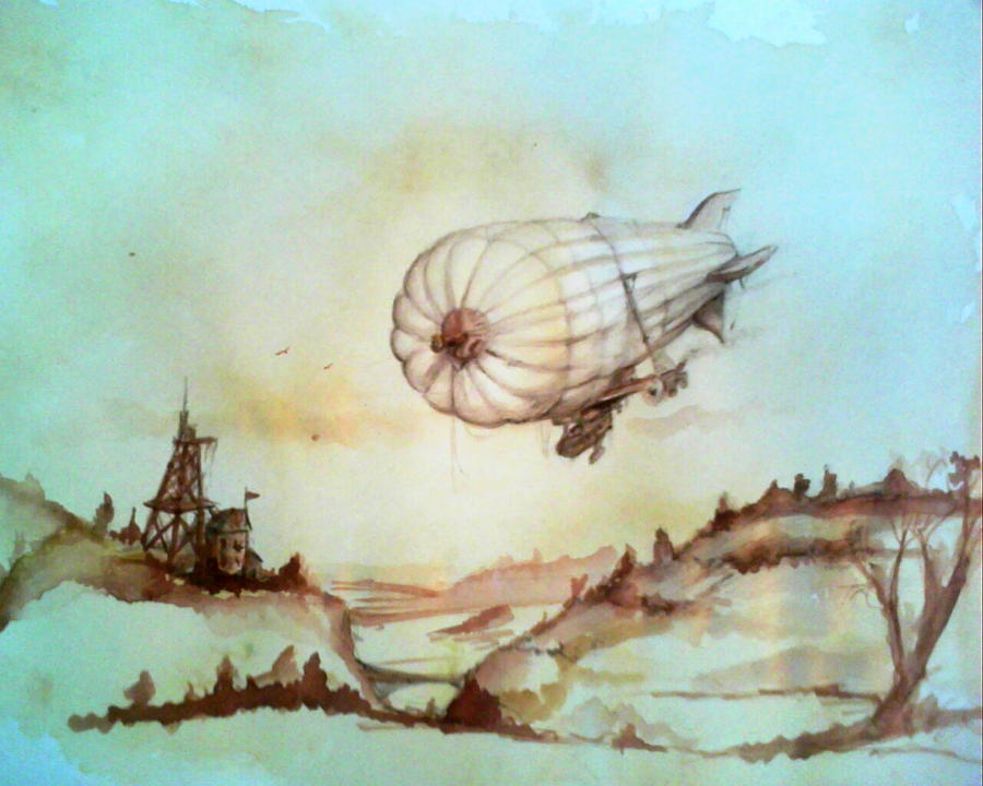 Airship Sketch by carlcom66