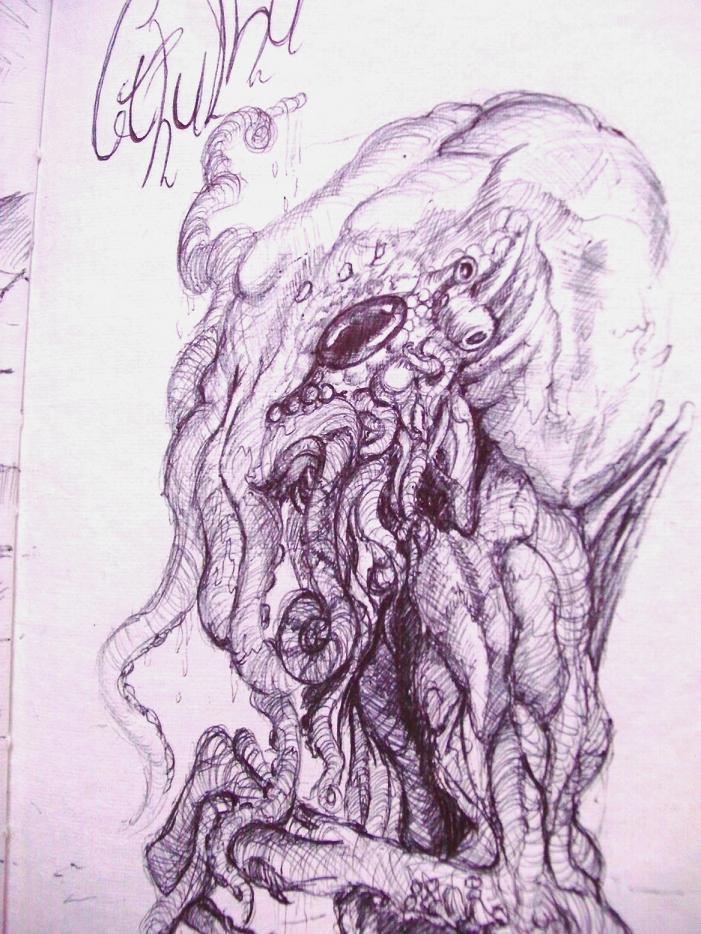 Cthulhu sketch by carlcom66