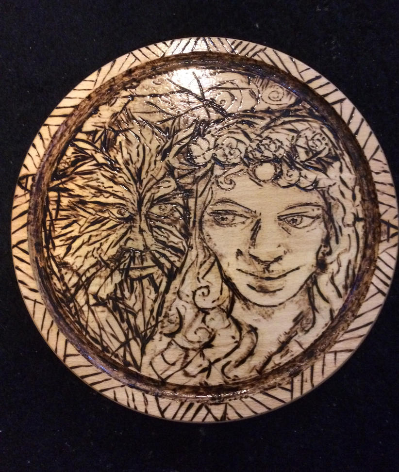 Pagan pyrography by carlcom66